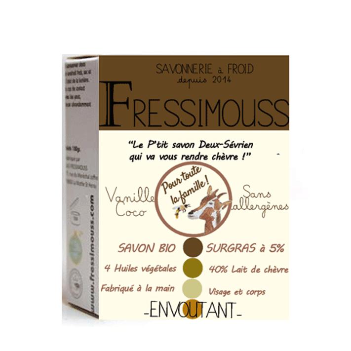 FRESSIMOUSS - Savon surgras au lait de chèvre - Envoutant - vanille-coco