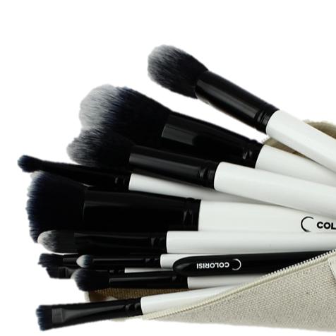Trousse de 12 pinceaux de maquillage vegan Colorisi