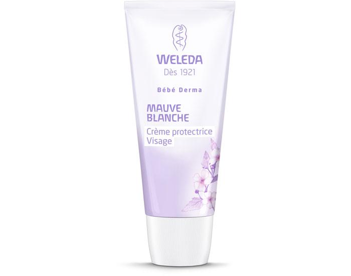 Crème protectrive visage bio bébé - bébé derma - mauve blanche - Weleda