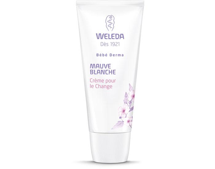 Crème pour le change bio - bébé derma - mauve blanche - Weleda