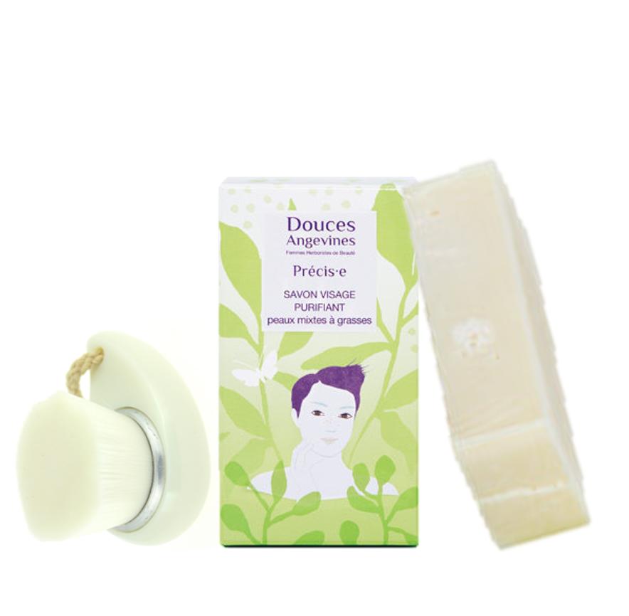 Duo Anti-acné - Brosse nettoyante Doux Good et savon Precise des Douces Angevines