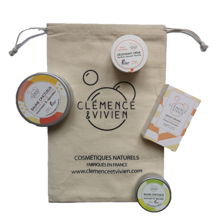 Pochon Clémence et Vivien- Mini baume offert