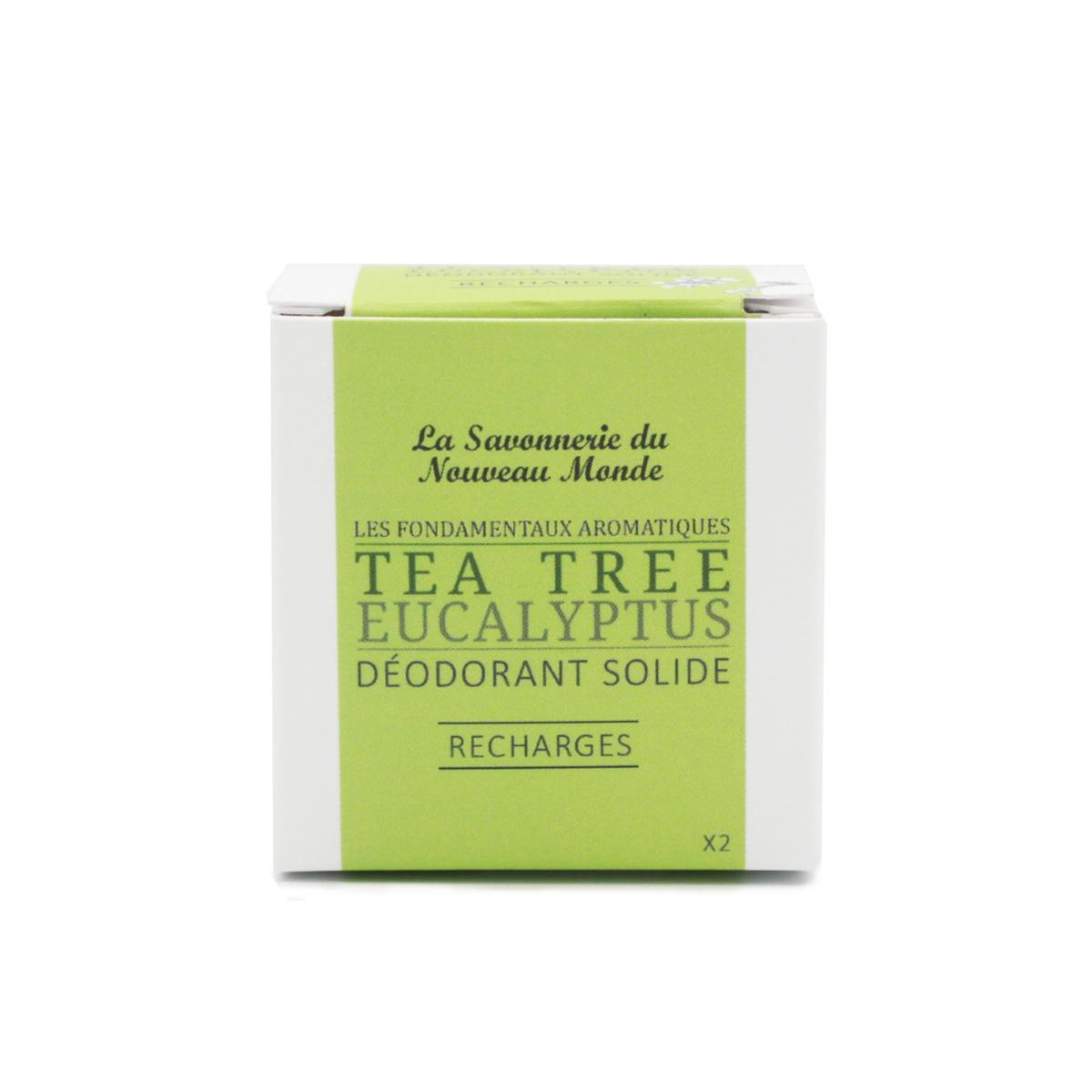 recharge déodorant solide teatree et eucalyptus - La savonnerie du nouveau monde