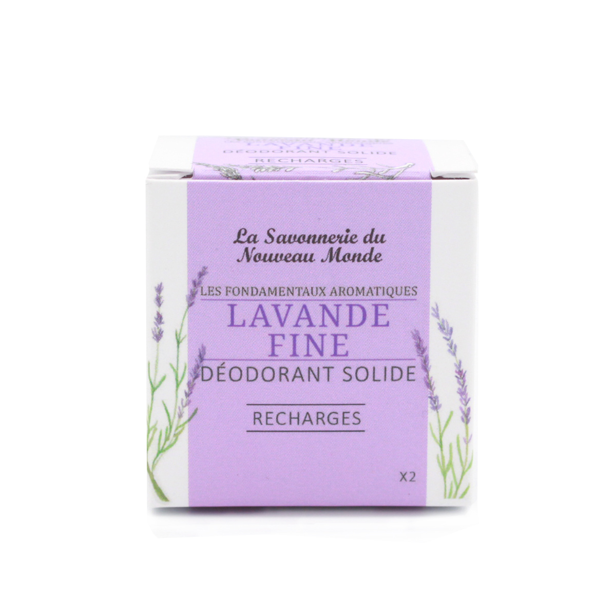 recharges déodorant lavande fine - La Savonnerie du Nouveau Monde