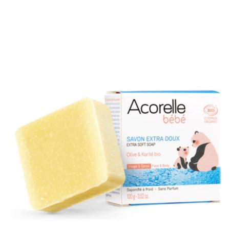 savon-extra-doux-bebe-bio-Acorelle-100g