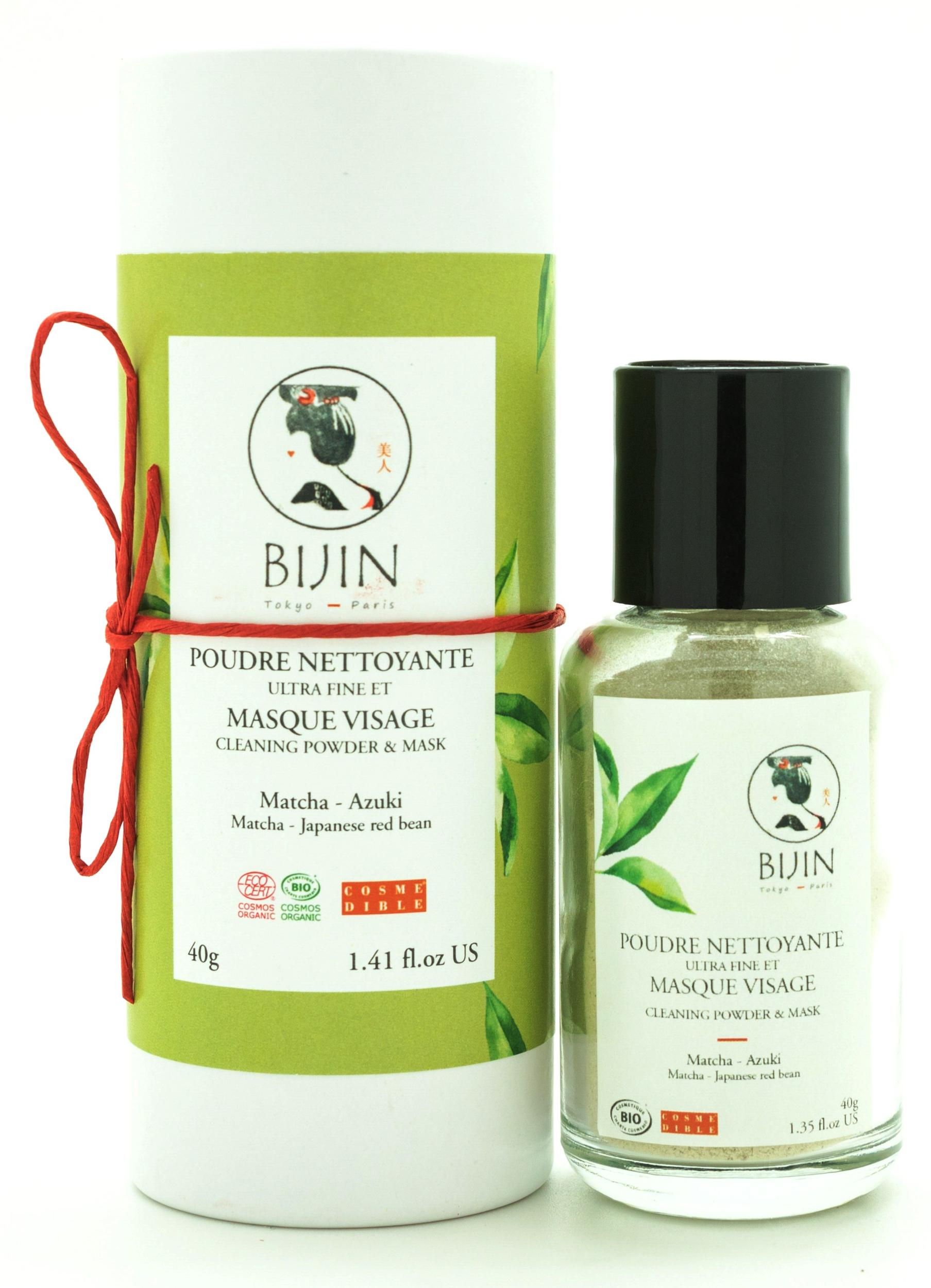 Poudre nettoyante au thé vert Matcha - Masque visage BIJIN
