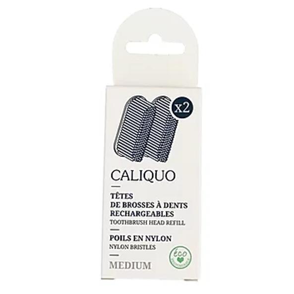 2 Recharges brosses à dents poils medium - CALIQUO