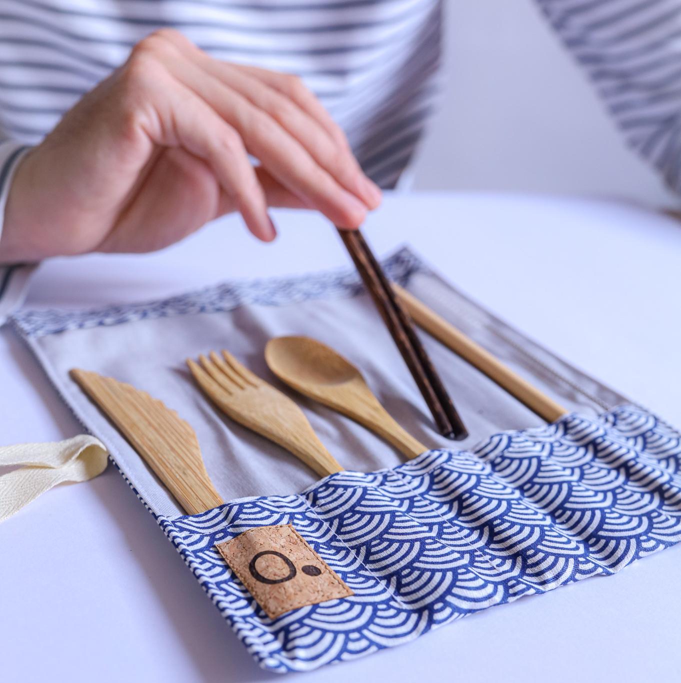 Kit de couverts en bambou - marque française Zero