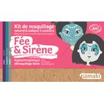 Kit de maquillage 3 couleurs - Fée et sirène - Namaki
