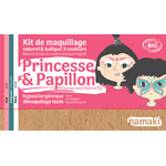 Kit de maquillage 3 couleurs - Princesse et papillon - Namaki