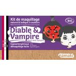 Kit maquillage 3 couleurs - Diable et vampire - Namaki