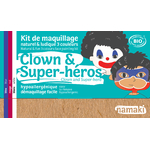 Kit de maquillage 3 couleurs - Clown et super-héros - Namaki