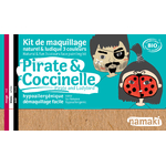 Kit de maquillage 3 couleurs - Pirate et coccinelle - Namaki