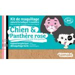 Kit de maquillage 3 couleurs - Chien et panthère rose - Namaki