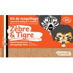 Kit de maquillage 3 couleurs - Zèbre et tigre - Namaki