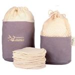 Carré démaquillant lavable en coton bio biface - Kit Eco Belle en trousse - Les Tendances d'Emma