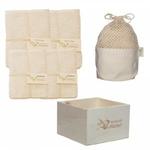 Kit Eco chou, carré bébé lavable et gant de change en coton bio, Les Tendances d'Emma