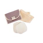 Kit nomade carré démaquillant lavable en coton bio - Les Tendances d'Emma