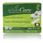 Tampon Super sans applicateur - 100% coton bio - Silvercare