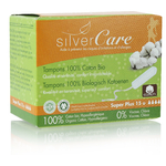 Tampon Super plus sans applicateur - 100% coton bio - Silvercare