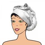 Serviette à cheveux en bambou - Les Tendances d'Emma