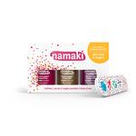 Coffret 3 vernis et lime offerte - Framboise (03), Or (01) et Fushia (12) - Namaki