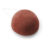 Eponge de Konjac Dermotechnic - éponge visage ronde à l'argile rouge
