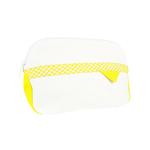 Pochette Gwendy blanche et jaune - Collection Vichy - Les Mouettes Vertes