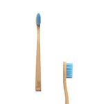 Brosse à dents en bambou, enfant souple, bleu - Boo