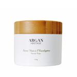 Savon noir à l'huile essentielle d'eucalyptus et gant offert - Argan Heritage