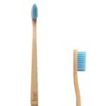 Brosse à dents en bambou, adulte médium, bleu - Boo
