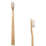 Brosse à dents en bambou, adulte médium, blanche - Boo