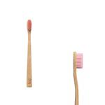 Brosse à dents en bambou, enfant souple, rose - Boo