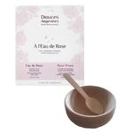 Kit visage Peau sensible : Duo à l'eau de Rose et bol en bois - Douces Angevines