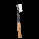 Brosse à dents en bois de chêne - Tête noire - Poils médium - Caliquo