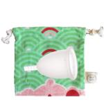 Coupe menstruelle Fleurcup - grande taille - avec sa pochette colorée Doux Good
