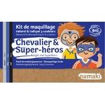 Kit de maquillage 3 couleurs - Chevalier et Super-héros - Namaki