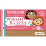 Kit de maquillage 3 couleurs - Princesse et Licorne - Namaki