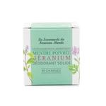 Recharges déodorant solide - Menthe poivrée et Géranium - La Savonnerie du Nouveau Monde