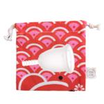 Coupe menstruelle Fleurcup - petite taille - avec sa pochette colorée Doux Good