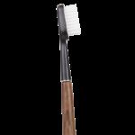 Brosse à dents en bois de noyer - Tête noire - Poils médium - Caliquo