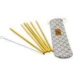 Pochette de 6 pailles en bambou et 1 goupillon - Zero
