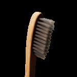 Brosse à dents en bambou, adulte medium, infusée au charbon - Boo