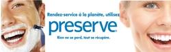 Preserve - rasoirs en plastique recyclé