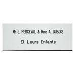 Plaque de porte PVC couleur Blanc L: 100mm  l: 40mm h: 1.5mm Adhésive