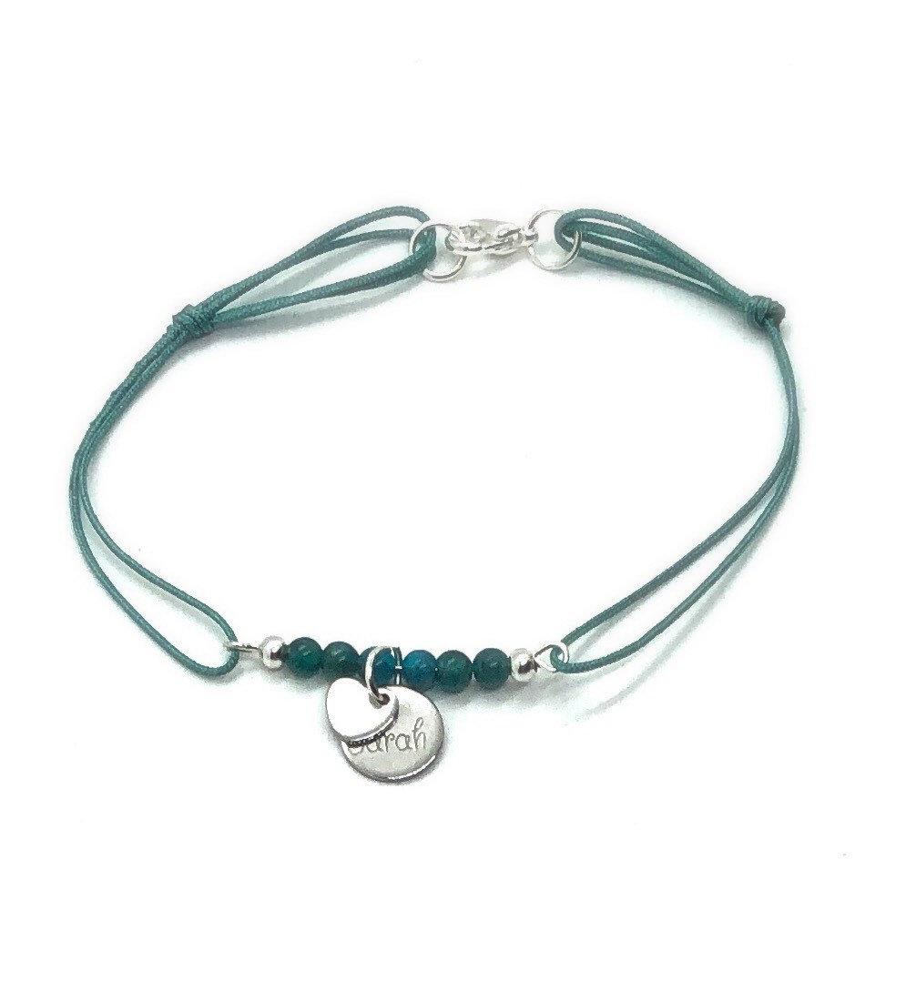 Bracelet personnalisable, pierres semis précieuses apatite