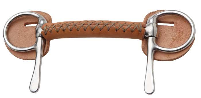 Mors demi-spatule canon droit Cuir Zilco