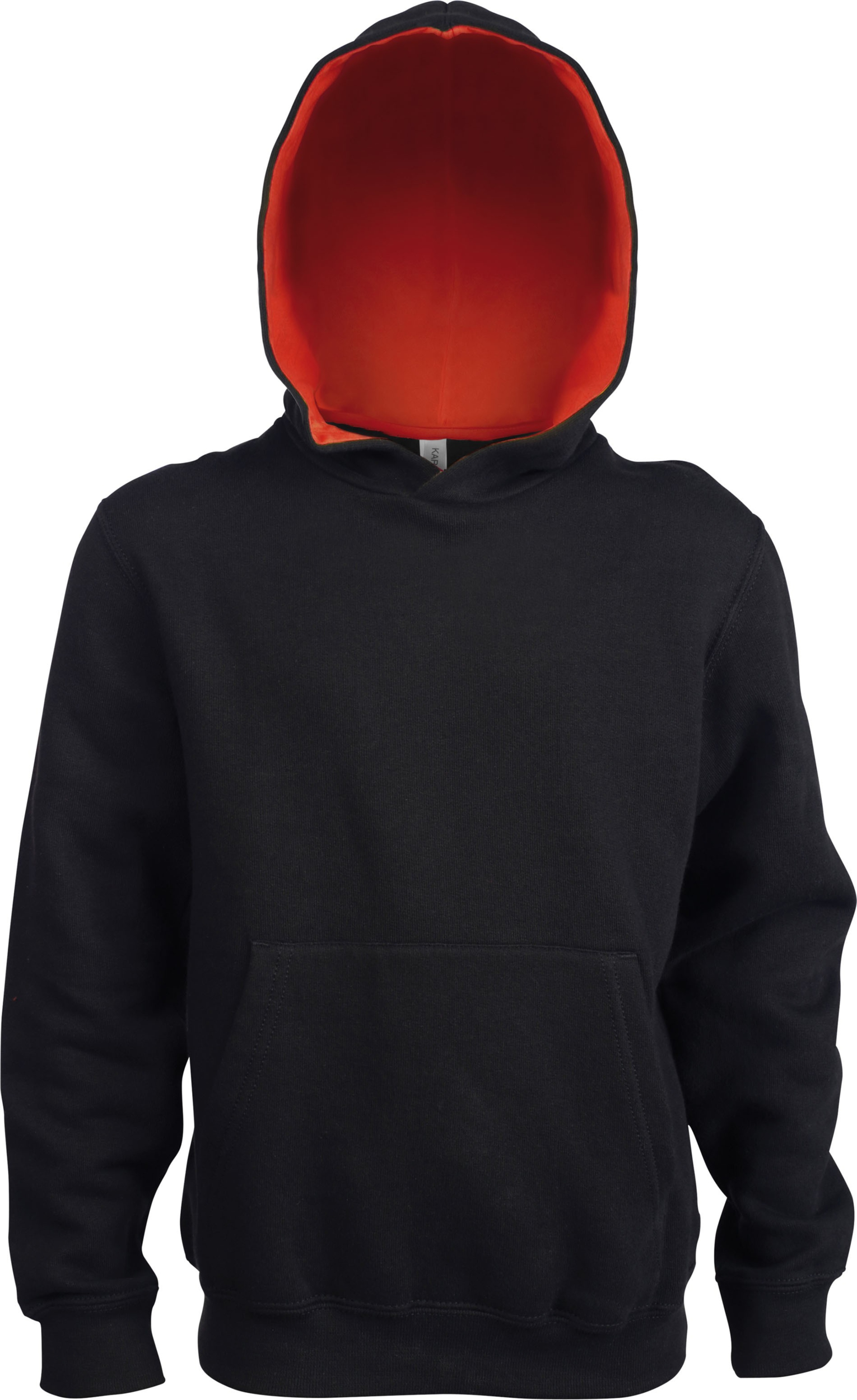Sweat capuche contrastée Enfant Kariban