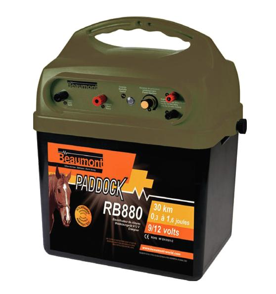 Poste à pile 9 V/12 V solarisable Paddock RB 880