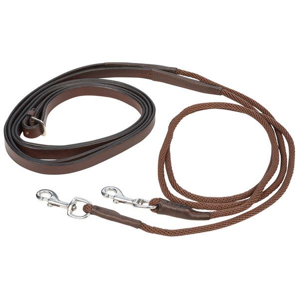Rênes allemandes cuir et corde Protanner Must